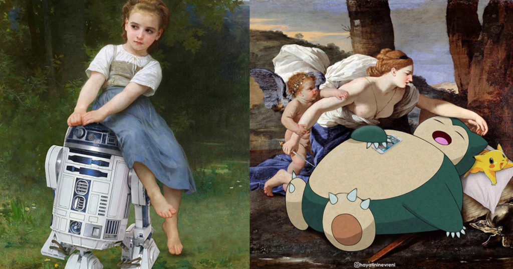 Artist Mashes Up Pop Culture With Famous Paintings