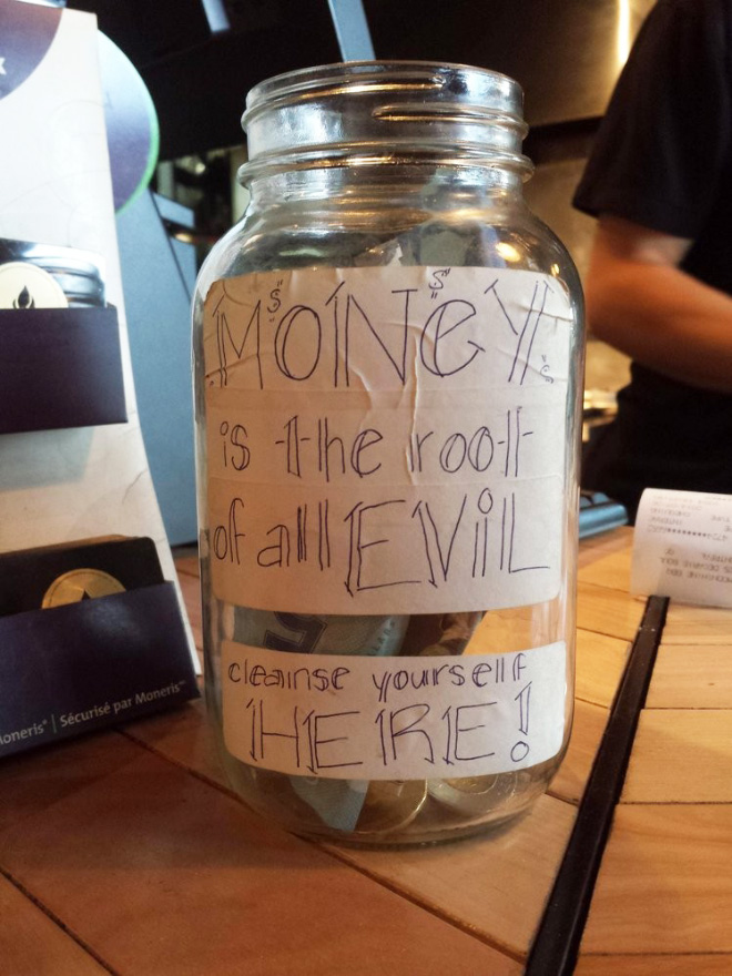 10 Hilarious Joke Tip Jars Worth Tossing In A Few Bucks